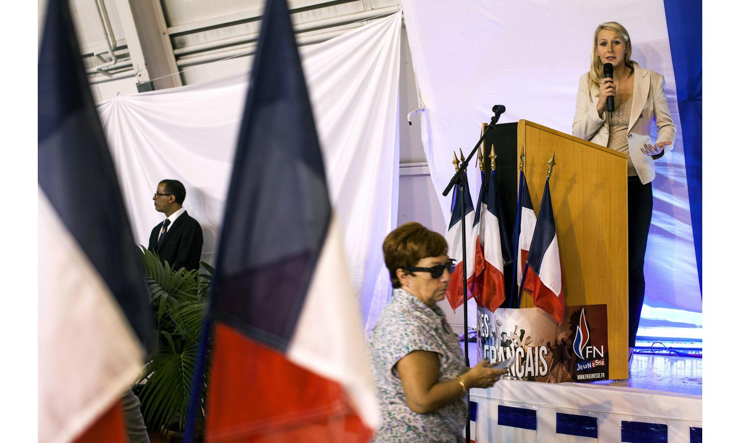 France, Le Pontet, October 18, 2014. Press conference with Marion Marechal Le Pen.