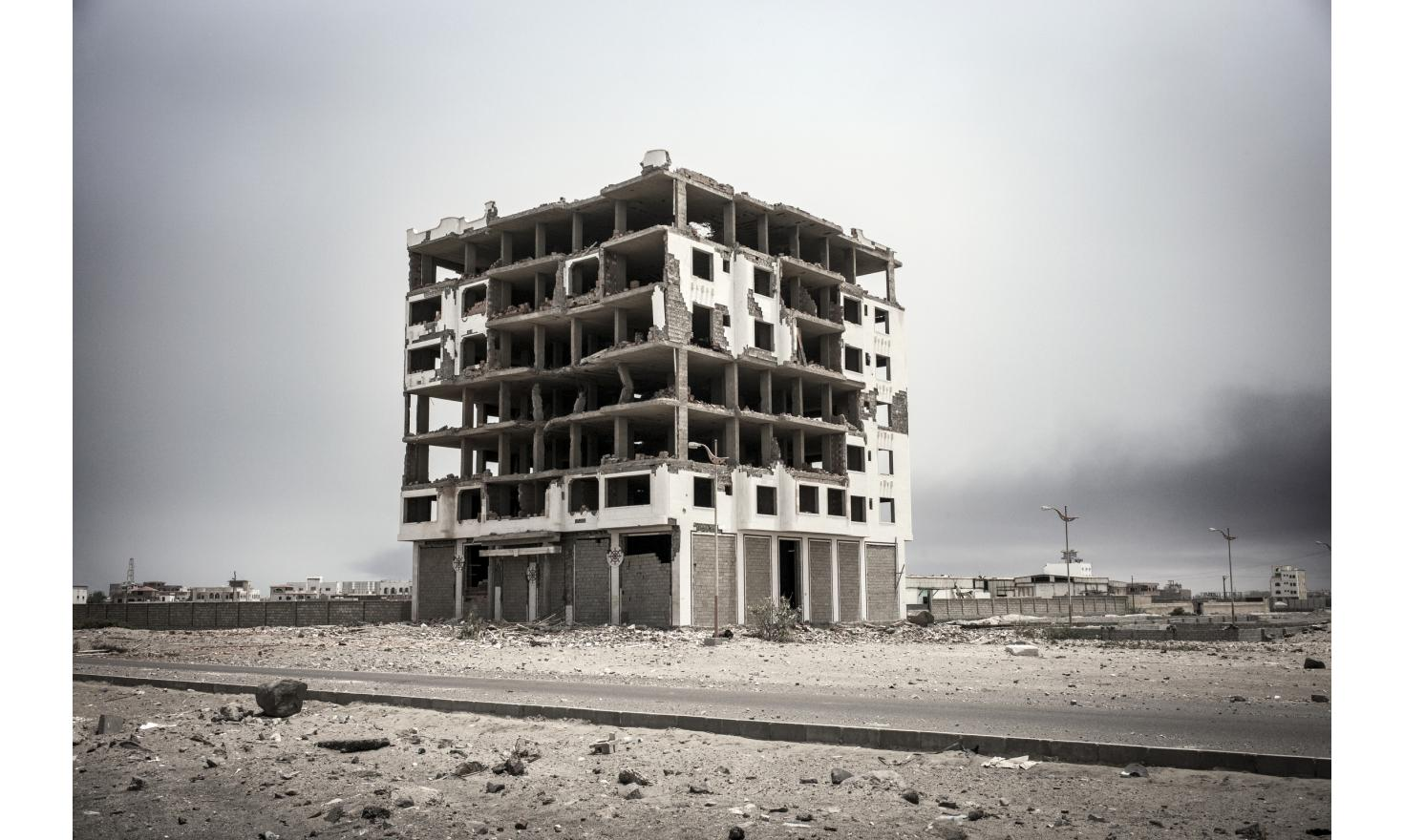 Once a bustling port in Yemen, Aden has been reduced to rubble, ravaged by the incessant shelling of the Houthi militia that has the city surrounded. 07/15