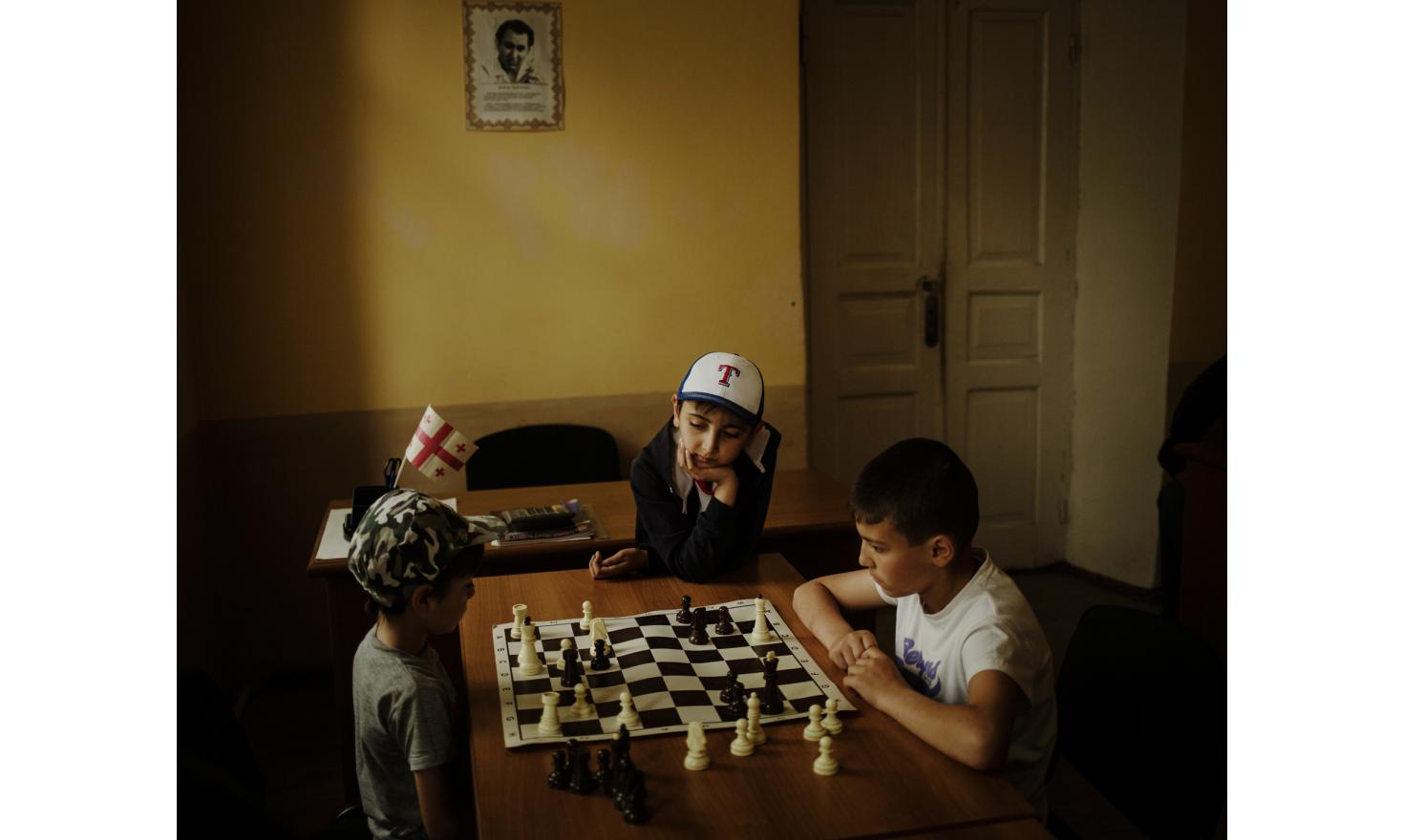 Akhalkalaki. In a chess course for the Armenian community. Chess is a kind of national sport for Armenians. In Armenia it is taught at school like mathematics or history.