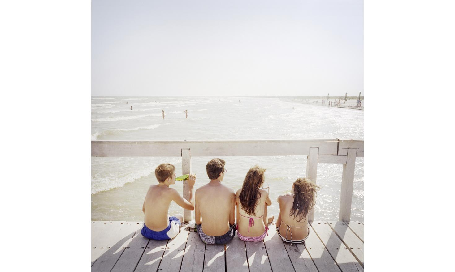 ulina beach. It is the principal attraction of the city with the delta. Young people from Sulina