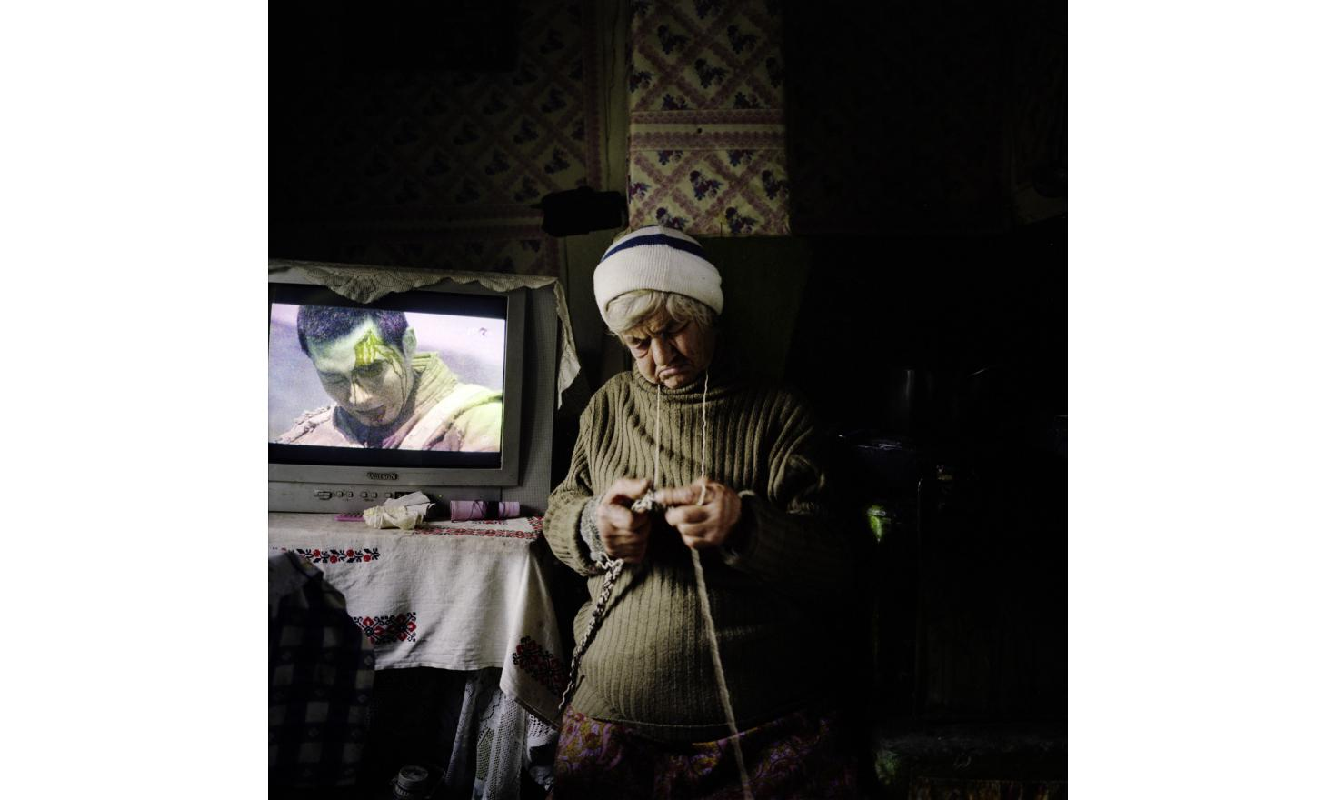 Varvara in her house, in the village of Cardon, not far from Sulina. She died a few weeks after the photo.