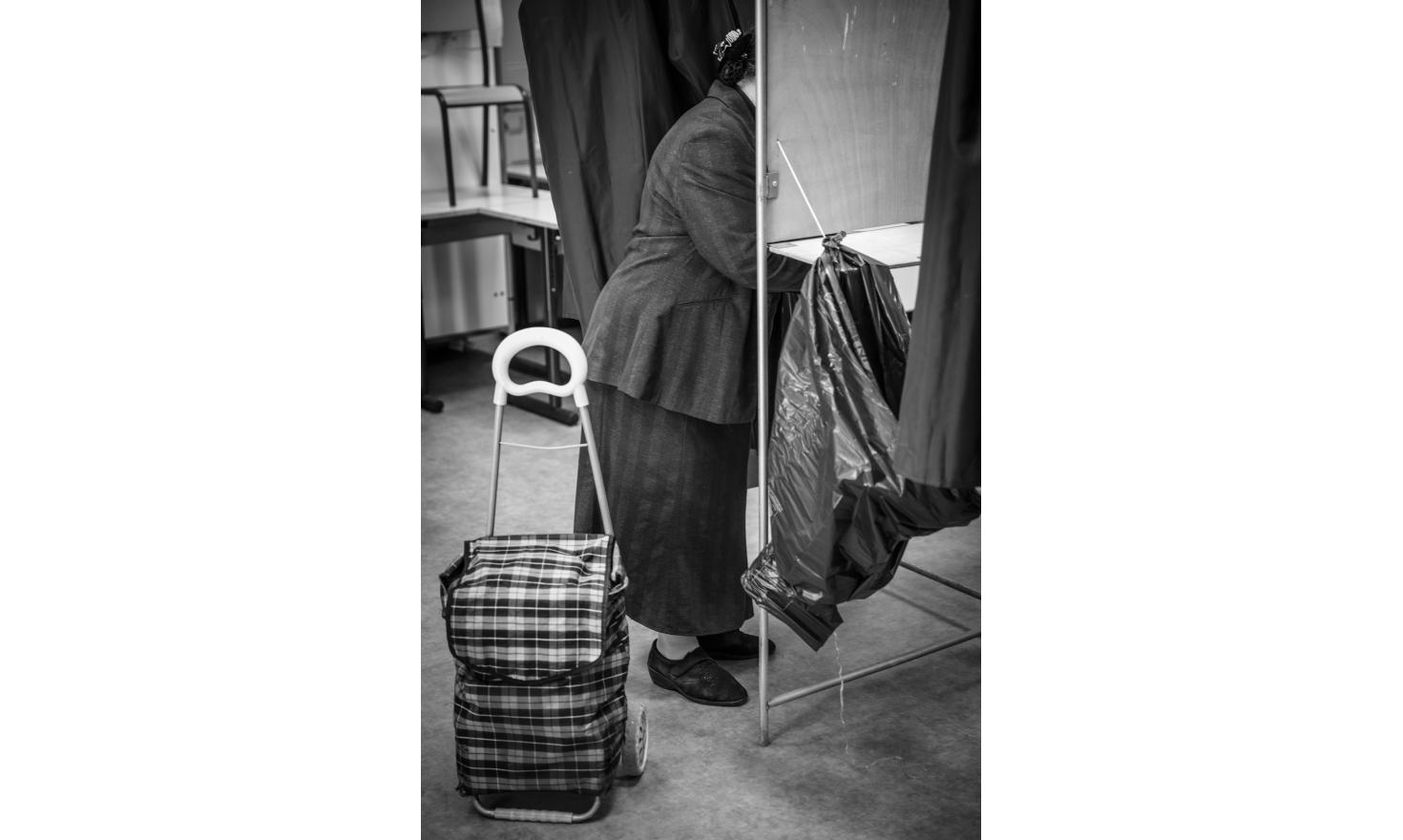 In the n°142 polling station, Belzunce, during the second turn of the French presidential election day in Marseille, May 7th 2017.