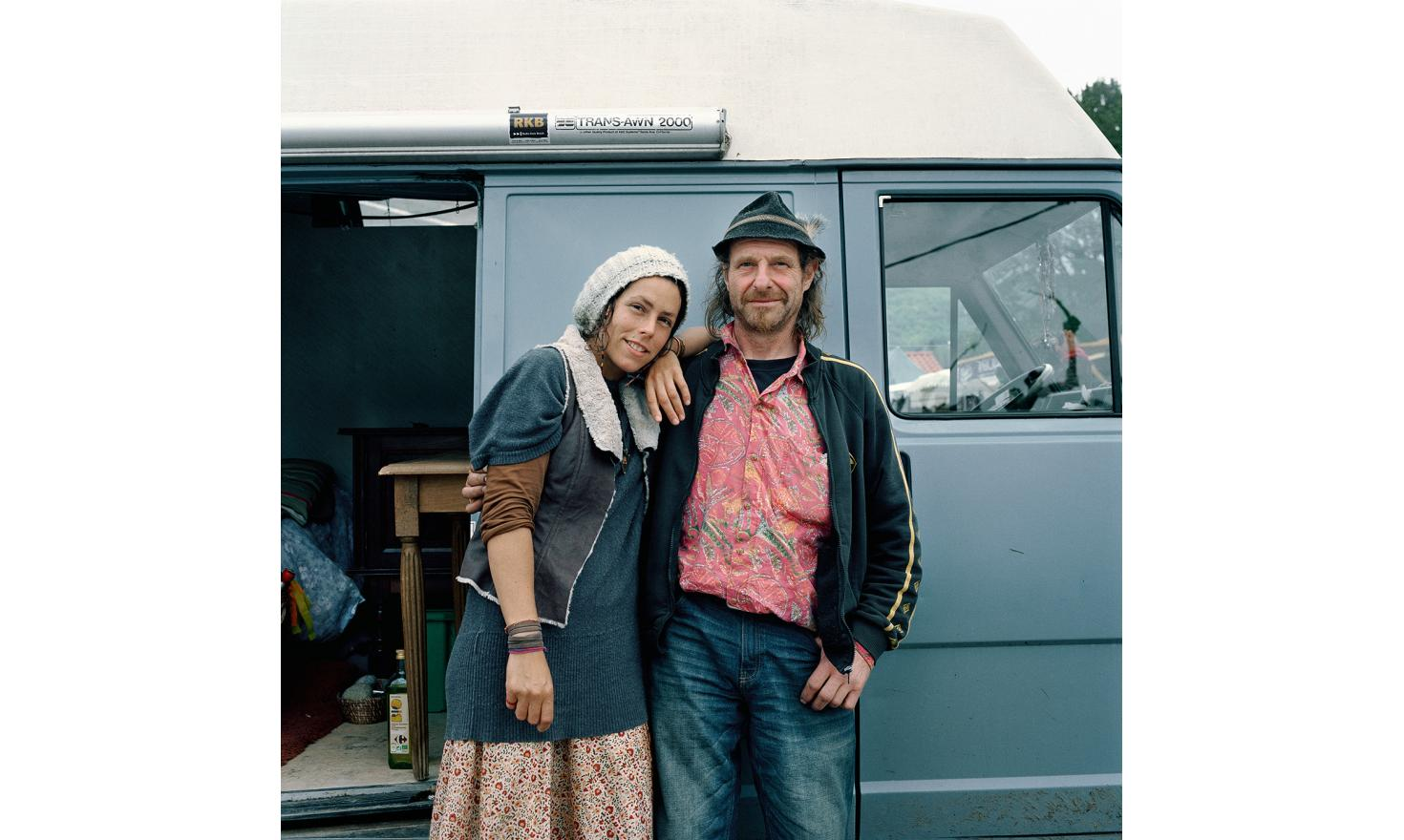 Sandrine and Thomas. Sandrine lives in a small valley isolated. She is a high mountain guide.