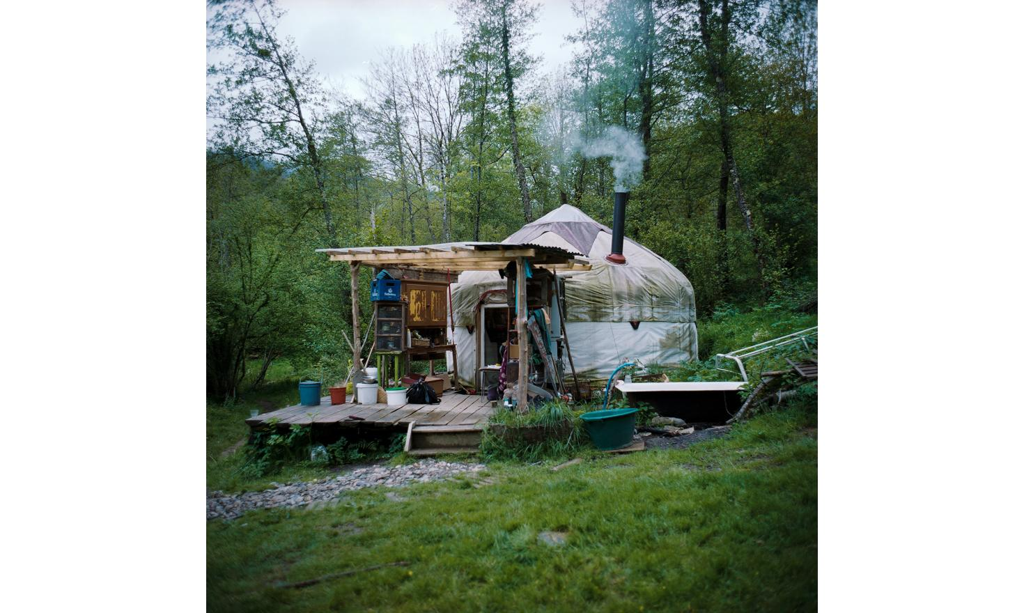 The yurt of Magalie and Olivier. Bernède's Valley, Ariege.