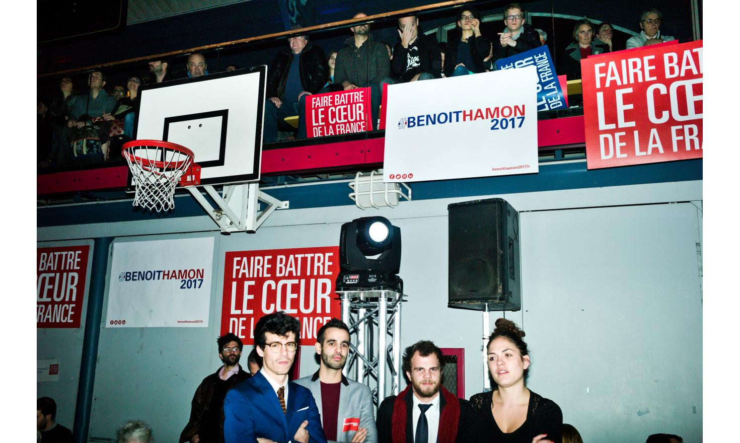 First meeting of Benoit Hamon at the Japy Gymnasium