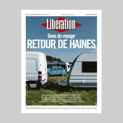 Couv Libération gens du voyage