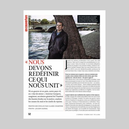L'Express. Antoine Garapon