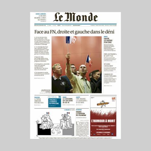 Julien Daniel. Le Monde, élections régionales