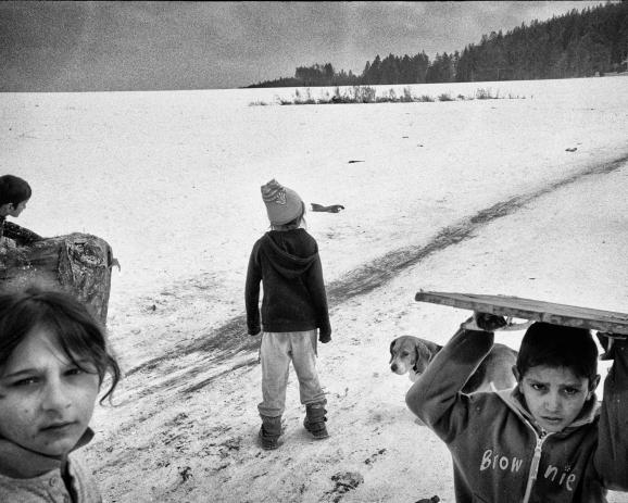 Roma village of Letanovce. Slovakia, january 2012.