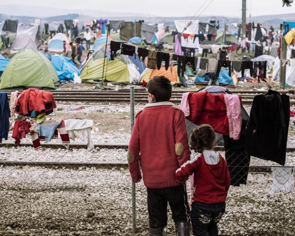 Idomeni refugees camp (macedonian border)